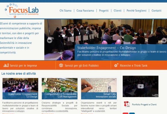 Sito Internet Focus Lab